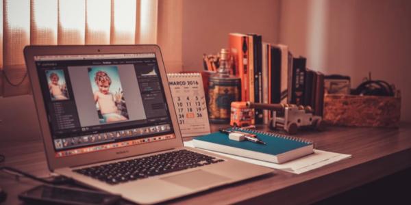 videobewerking software studio werkplek