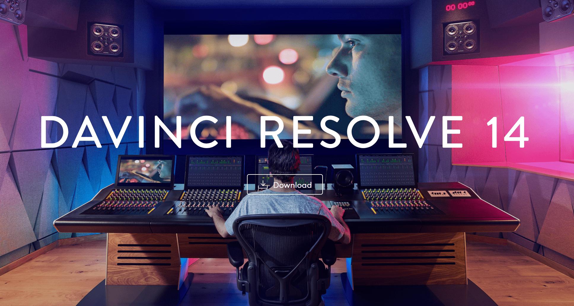 DaVinci Resolve videobewerking programma voor 2018